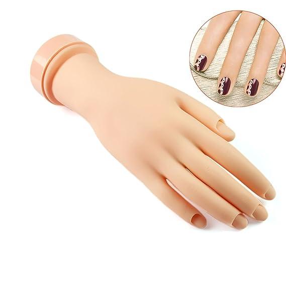 Flexible Soft rubber Flectional Mannequin Model Hand for Nail Art ...