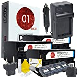 3x DOT-01 Brand 7200 mAh Replacement Sony NP-F970 Batteries and Charger for Sony NEX-FS700 Camcorder and Sony F970 Accessory Bundle with BONUS Lens Blower Brush Cleaning Kit and Hard Memory Card Case