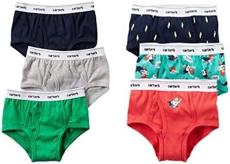 Carter's Toddler Boys 6 Pack Cotton Brief Underwear