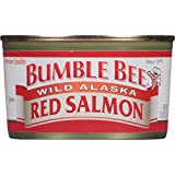 Bumble Bee Wild Alaska Red Salmon, 7.5 Ounce Cans, 12 Count