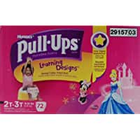Huggies Pull-Ups Learning Designs Disney, Size 2T-3T, Girl, 72 Count