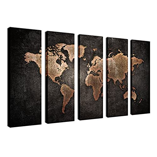 Old World Wall Pictures Amazoncom - Iron world map wall art