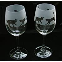 Cat gift wine glasses