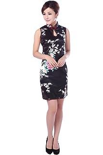 b57f51573 Jtc(TM Cheongsam Chinese Dress Han Costume Sleeveless Qipao Skirt 4 Colors