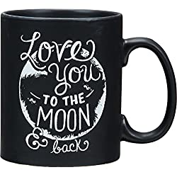 Primitives by Kathy Chalk Stoneware Coffee Mug, Love You To The Moon And Back