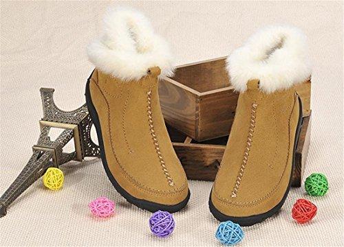 neue Womens Stiefeletten Frosted Winter warm verdicken Baumwolle Schuhe Schnee-Aufladungen