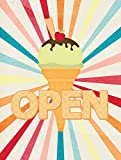 Cheap Caroline's Treasures SB3113CHF Ice Cream Shop or Stand Open Flag Canvas, Large, Multicolor