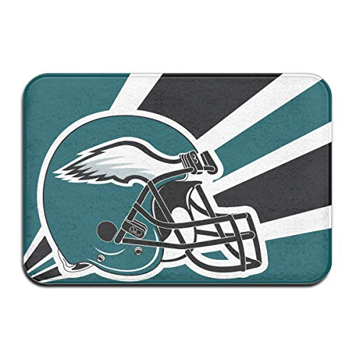 Jeffredy Custom American Football Team Philadelphia Eagles Doormat Indoor Non Slip Floor Mats Suitable Entrance Bathroom Bedroom Toilet 15.7 X 23.6 Inches