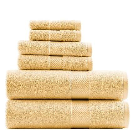 Amazon Com Tommy Bahama Cypress 6 Piece Towel Set Sun Yellow