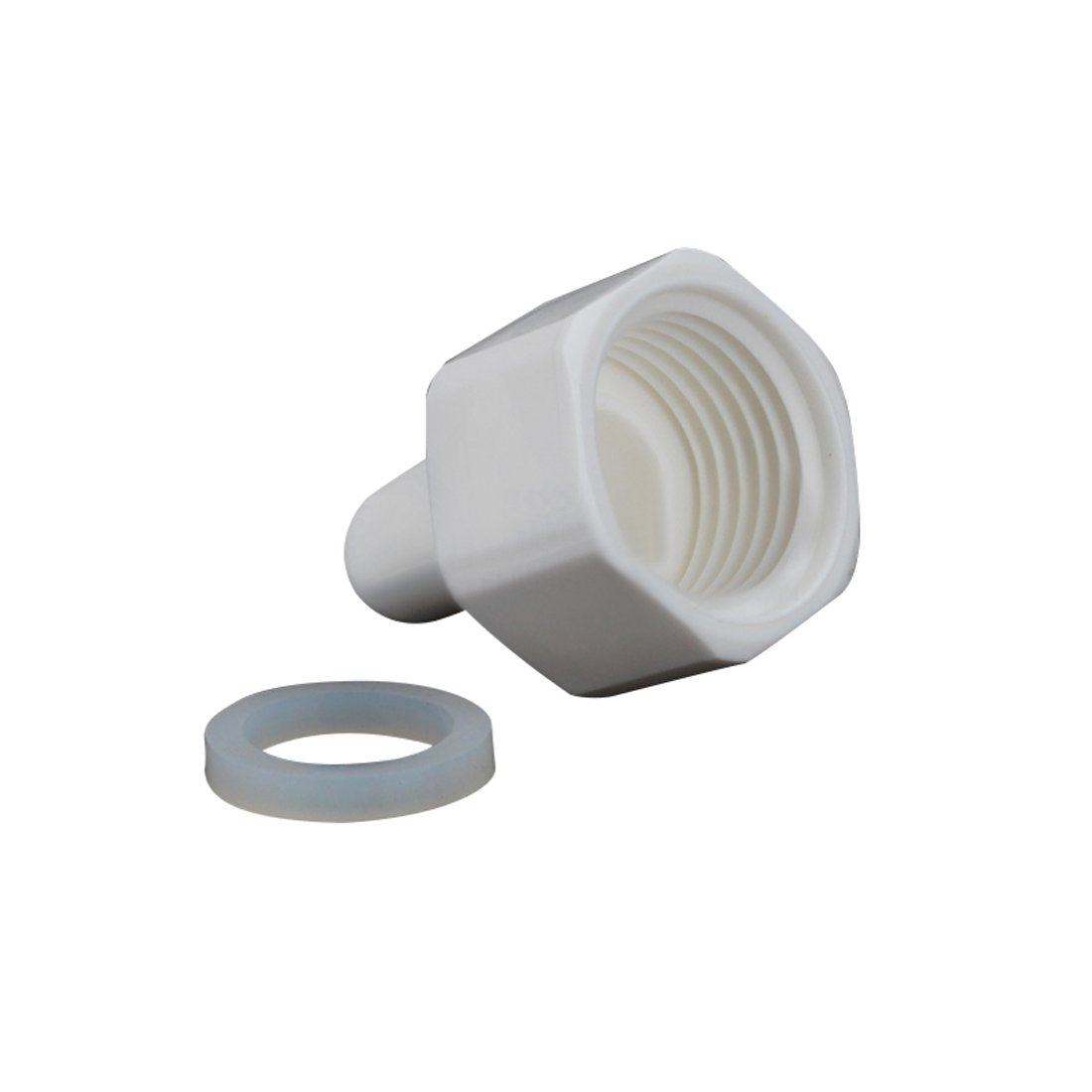 pack of 5 Meiduoduo Model 1048N Mini White POM Quick Water Fittings 1//2 Female NPT Thread to 1//4 Tube 90 degree elbow push fit quick connector for RO water system