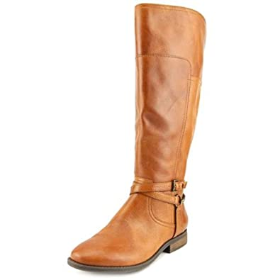 Marc Fisher Womens Alexis Leather Closed Toe Mid-Calf, Medium Brown, Size  6.0