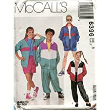 McCall's Pattern 6396 Boys' and Girls' Lined or Unlined Jacket, Pants and Shorts, Size 8 (Bust 31 1/2)