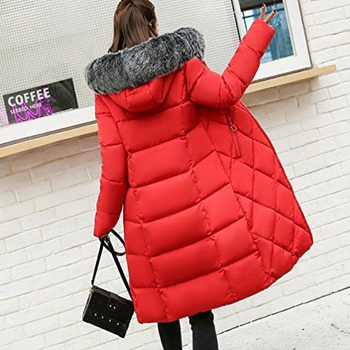 Tefamore Mince Hiver Hiver Femmes Manteau solide plus EqWBBTnR