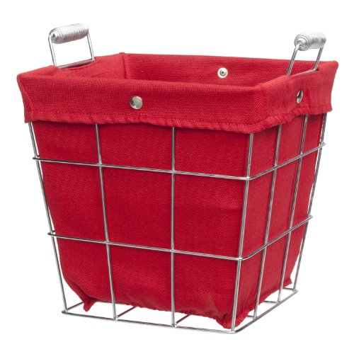 CreativeWare Simply Storage Waste Basket, Red