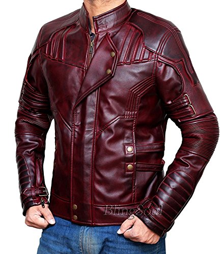 Movies Costumes Ideas (Guardians Of The Galaxy 2 Star Lord Jacket - Best Movie Cosplay Costume Ideas For Boys and Girls (L, Red (Galaxy 2)) [PU-GLX3-RD-L])