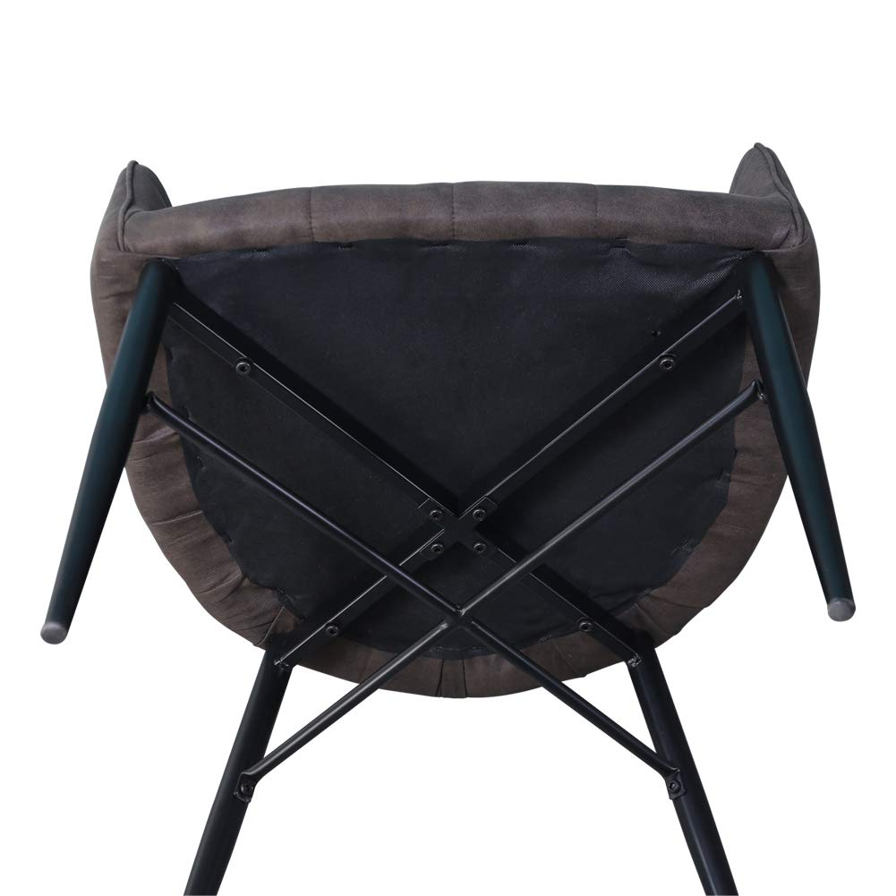 Grigio sedie da Cucina per Salotto 59.5 * 60.5 * 85.5 cm CLIPOP Set di 2 sedie da Pranzo Imbottite in Similpelle con Gambe in Metallo Ufficio e Ristorante Reception per casa