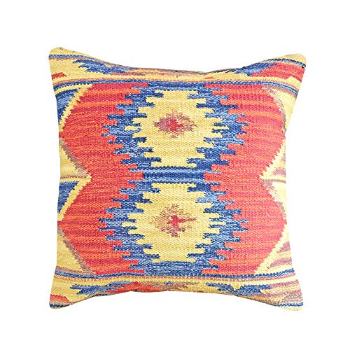 (YoTreasure Woven Yarn Dyed Poly Filled Decorative Accent Throw Pillow, 20