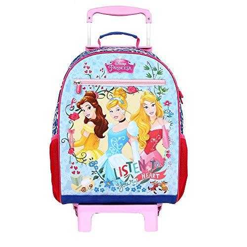 Mala Escolar G com Rodinhas Disney Princesas, 41 x 30 x 14, Dermiwil 52107, Multicor