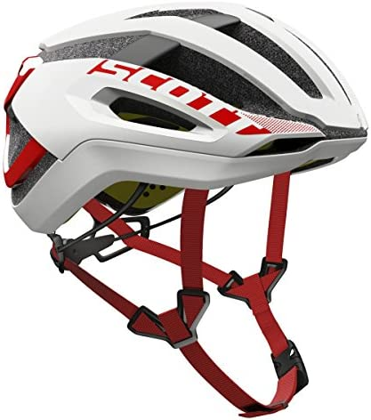 Scott Centric PLUS Bike Helmet – White Red Large