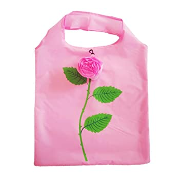 Amazon.com: YJYdada Rose Shopping Bag Imitation Flower Green ...