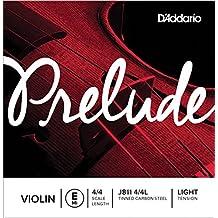 D'Addario Prelude Violin Single E String, 4/4 Scale, Light Tension