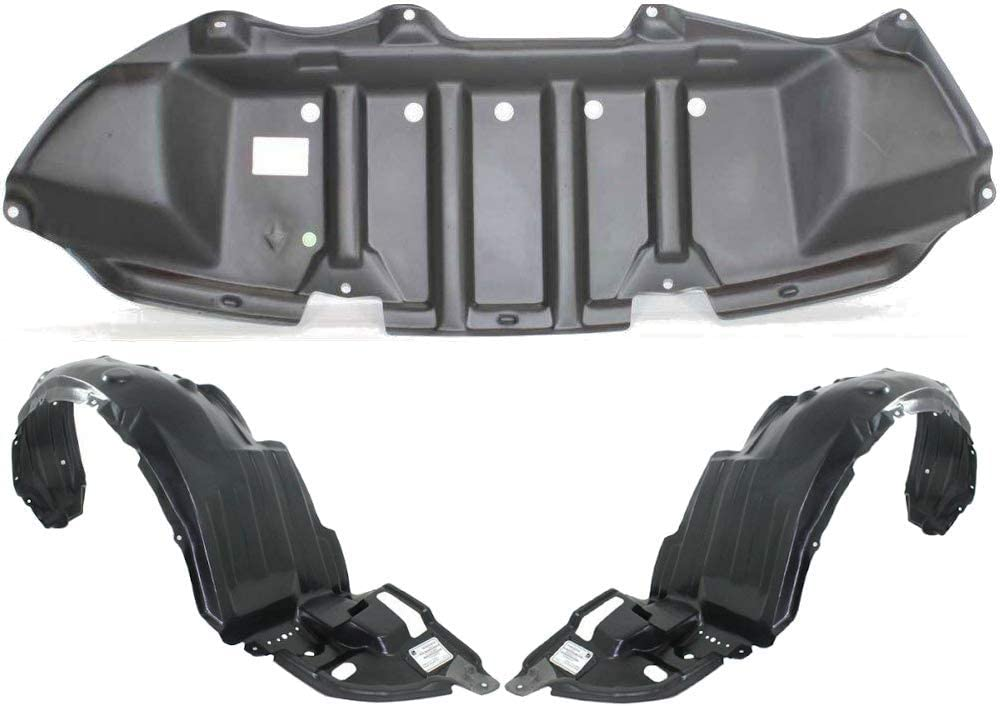 Parts N Go 2011-2013 Corolla Front Fender Liner Set with Clip//Fasteners TO1249162 TO1248162 5387502370 5387502370