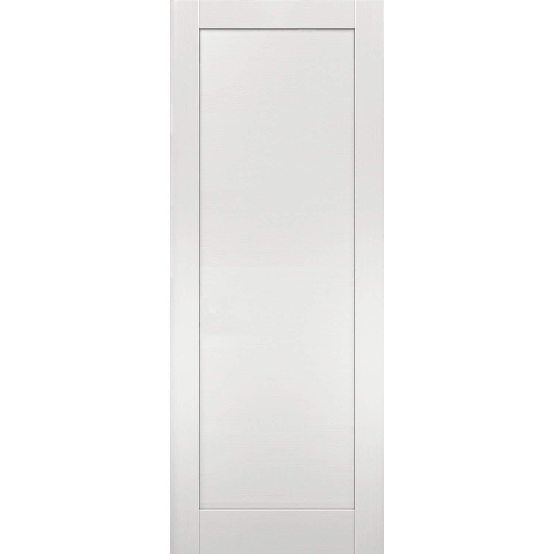 Slab Barn Door Panel 30 x 84   Quadro 4111 White Ash   Sturdy Finished Modern Doors   Pocket Closet Sliding by SARTODOORS