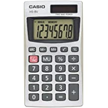 Casio HS8VA Pocket Calculator 8 Character(s) - Battery Solar Powered