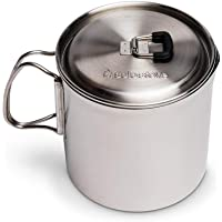 Solo Stove Solo Pot 900 - Lightweight Stainless Steel Backpacking Pot | Boil Water Quickly | Volume Markings and Pour…