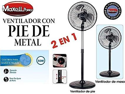 Maxell Power CE Ventilador 2 EN 1 PIE Suelo SOBREMESA 50W 10