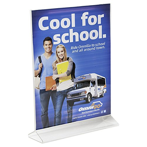 Clear-Ad - LHB-810 - Double Sided Acrylic Upright Sign Holder 8x10 - Table Menu Card Display Stand - Plastic Picture Frame Wholesale (Pack of 25) by Clear-Ad