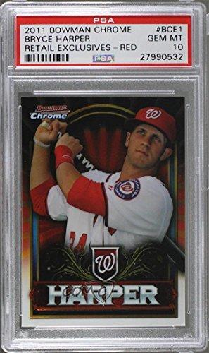 Bryce Harper PSA GRADED 10 (Baseball Card) 2011 Topps Bowman Chrome Exclusive - [Base] - Topps Value Box Red #BCE1