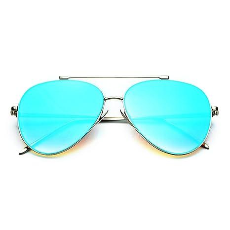 77602fc096 Smileyes Fashion UV400 Metal Frames Blue Lens Aviator Sunglasses For Womens  MensTSGL023  Amazon.ca  Luggage   Bags