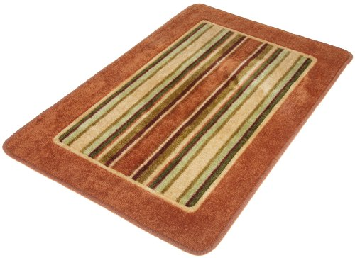 Popular Bath Contempo Spice Bath Rug - Decorative Boarders on soft Rug Design complements any contemporary decor - bathroom-linens, bathroom, bath-mats - 51FYXP9wZqL -