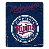 MLB Minnesota Twins Wicked Printed Fleece Throw, 50-inch by 60-inch