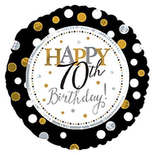 CTI Balloons Foil Balloon 117806 Happy 70th Birthday, 17