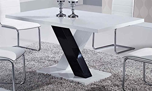Global Furniture Dining Table White High Gloss Buy Online In Uae Products In The Uae See