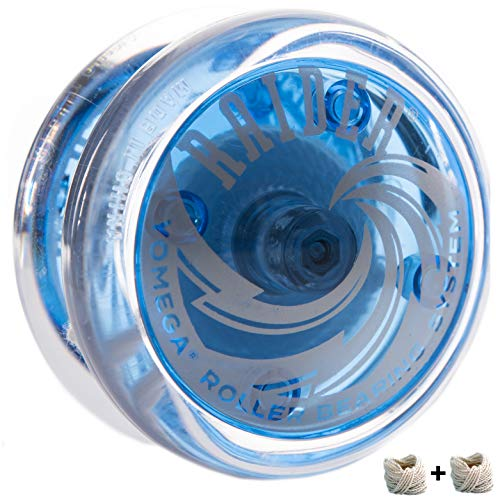 Yomega Raider - Professional Responsive Ball Bearing Yoyo, Great for Kids, Beginners and for Advanced String Yo-Yo Tricks and Looping Play. + Extra 2 Strings & 3 Month Warranty (Blue)