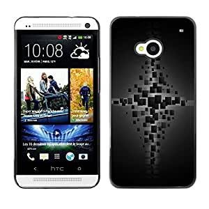 """For HTC One ( M7 ) , S-type Cubos"""" - Arte & diseño plástico duro Fundas Cover Cubre Hard Case Cover"""
