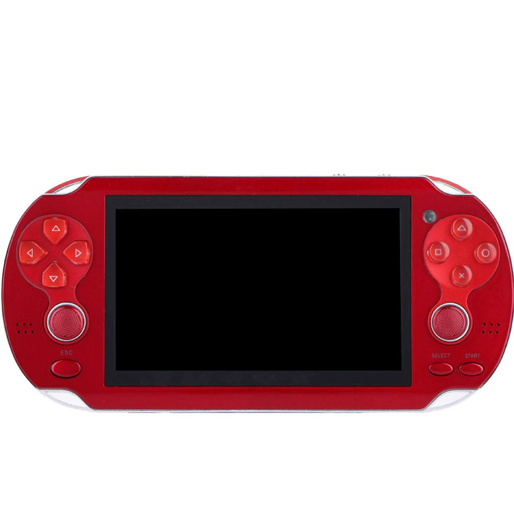 Huangou PSP Games,Retro Classic Game Console Handheld Portable 800 Built-in 4.3 Inch Games (Red, 11.5 x 8.5 x 9cm) by Huangou (Image #3)