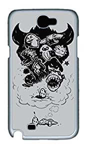 Bad Dreams Polycarbonate Hard Case Cover for Samsung Galaxy Note II N7100 White by Maris's Diaryby Maris's Diary