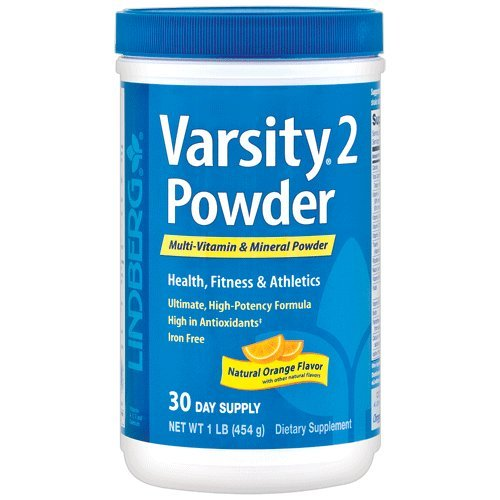 Lindberg Varsity 2 Powder Multi-Vitamin & Mineral, Natural Orange Flavor, 1 Pound