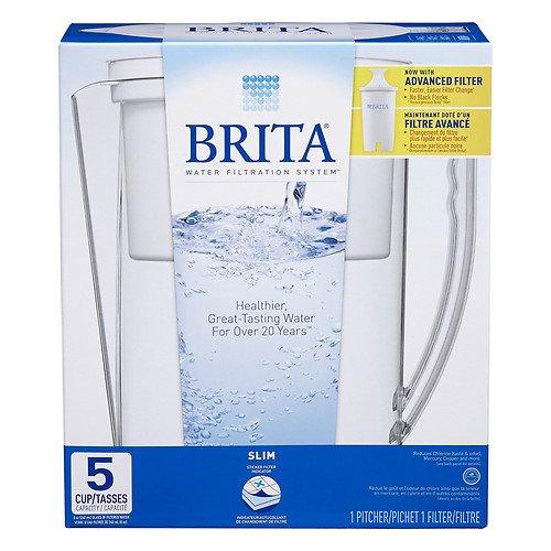 Brita Slim Water Filter Pitcher, 5 Cups