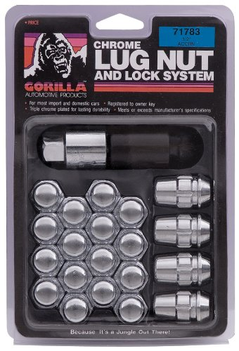 Gorilla Automotive 71773 Acorn Chrome Lug Nut and Lock System (7/16'' Thread Size) by Gorilla Automotive (Image #1)
