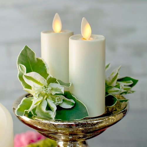 Luminara Votive Candle, Battery Op, Moving Flame, 3.25in, Ivory, 2 Pack by Darice (Image #1)