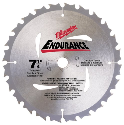 Milwaukee 48-40-4116 Endurance 7-1/4-Inch 16 Tooth ATB Thin Kerf Framing and Ripping Saw Blade with 5/8-Inch and Diamond Knockout Arbor (Blade Saw Circular Nail)