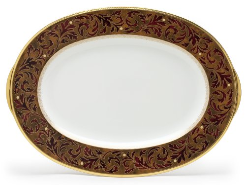 - Noritake Xavier Gold Oval Platter, 14-inches