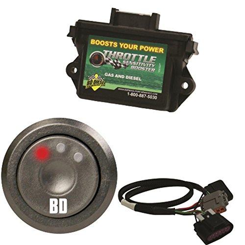 BD Diesel Performance Throttle Sensitivity Booster + Throttle Sens. Boos. Push Button Switch Kit fits Chevy/Gm Duramax 07.5-17