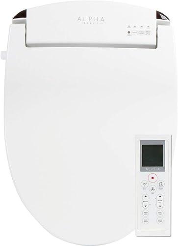ALPHA JX Elongated Bidet Toilet Seat, White, Endless Warm Water
