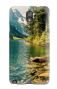 Tpu Case Cover Compatible For Galaxy Note 3/ Hot Case/ Crystal Forest Lake